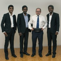 Mike Report - Left to Right - Eranga De Silva, Peshan Sampath, Mike Granger, Hasala Sakvithi Rohanawansha